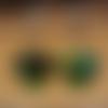 Boucles d'oreilles swarovski pendantes et pendentif cœur scarabée et argent sterling 925/1000