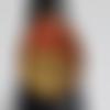 Bague goutte couleur platine dorée et rouge pailleté