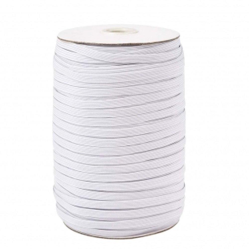 Elastique; 5mm, idéal pour les masques - blanc