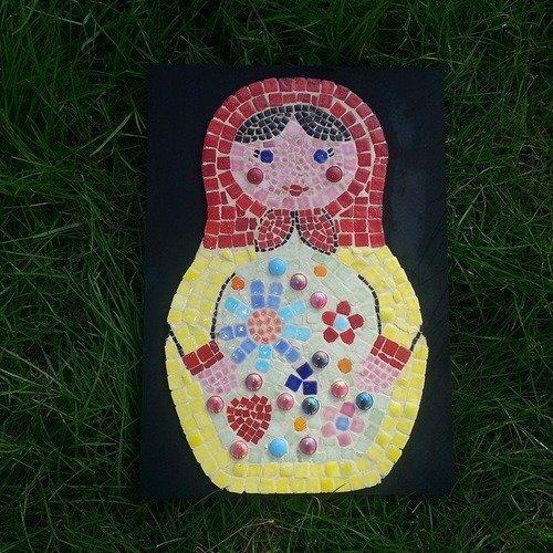 Tableau mosaïque poupée russe