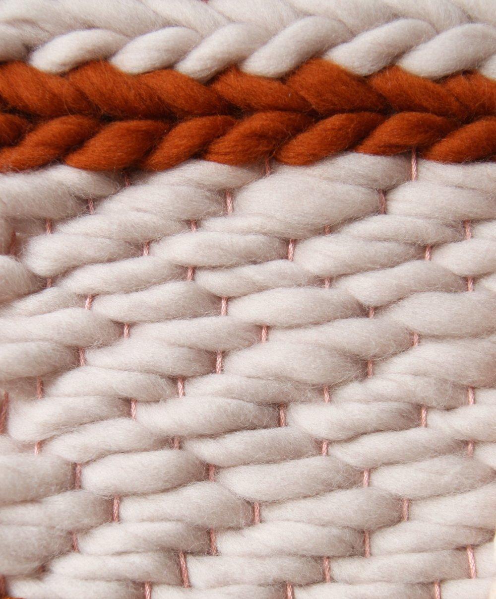 Tissage mural laine - plumes en feutrine ( décoration murale) - orange, rouille