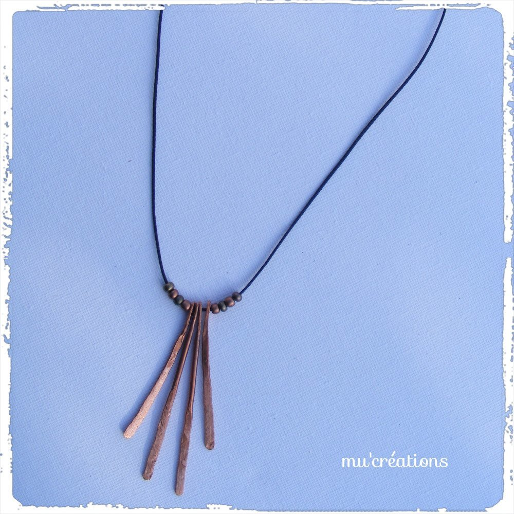 collier pendentif cuivre