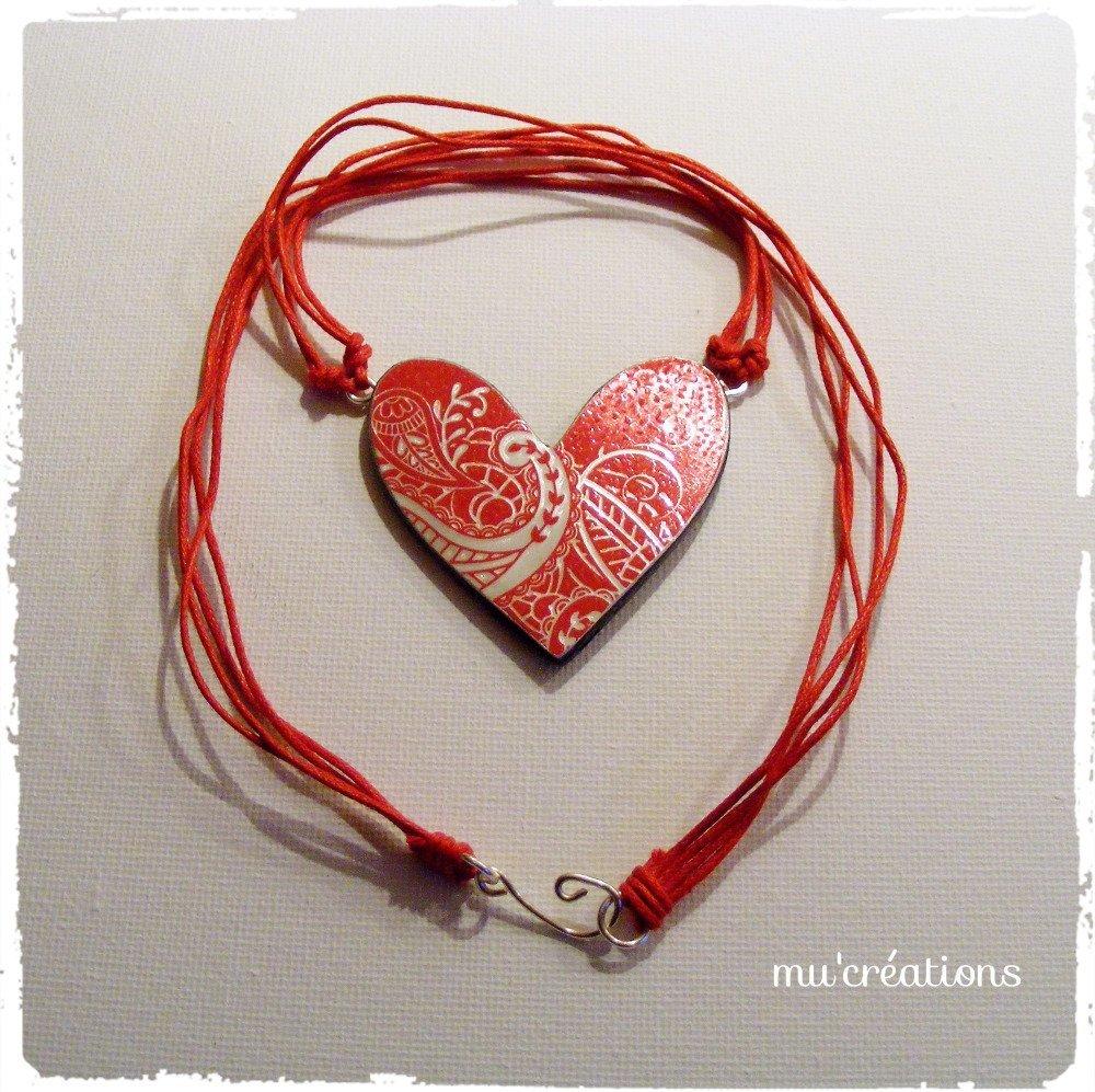 coeur rouge arabesque