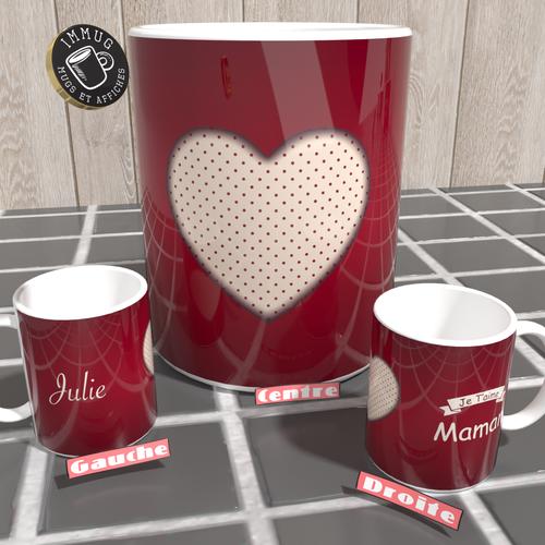 Mug - je t'aime maman - personnalisable - très beau cadeau