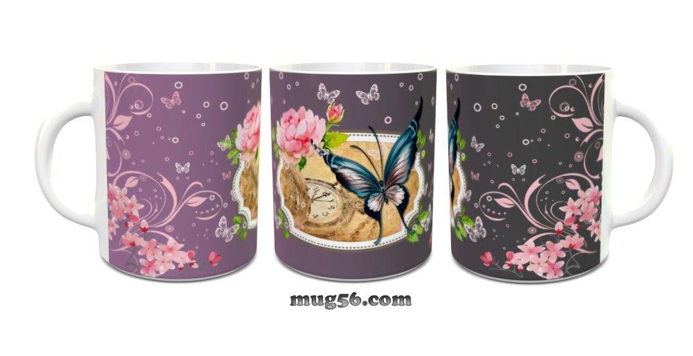 Mug papillons 001 personnalisable