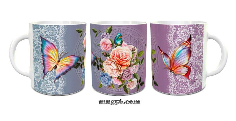 Mug papillons 002 personnalisable