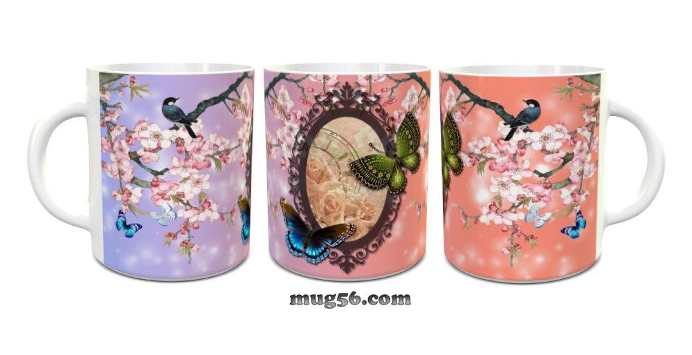 Mug papillons 006 personnalisable