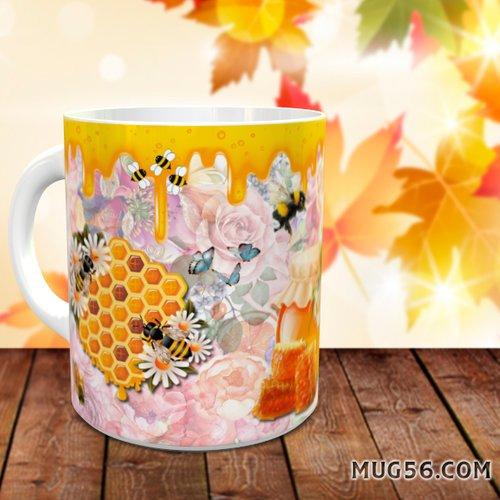 Design pour sublimation mug - abeilles 001 miel