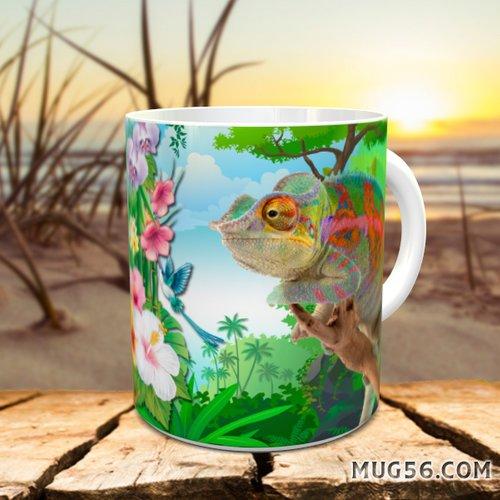 Design pour sublimation mug - caméléon 002