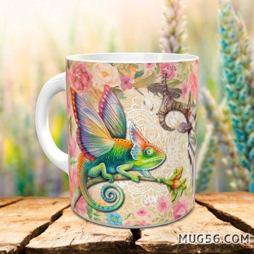 Design pour sublimation mug - caméléon 003