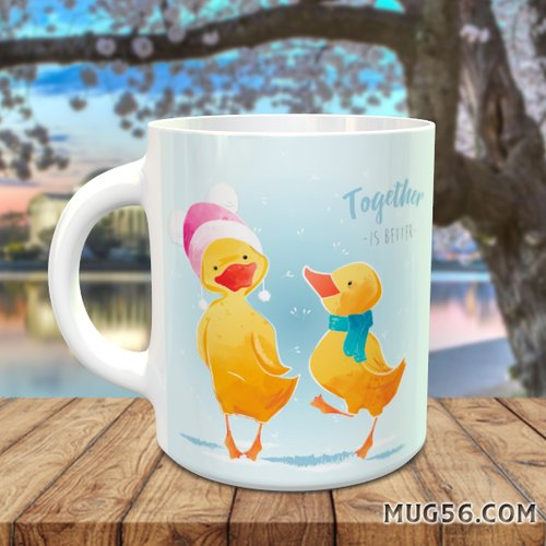Design pour sublimation mug - canard 001