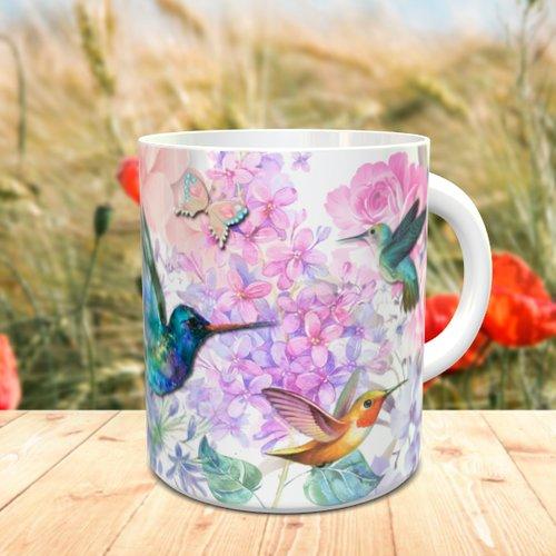 Design pour sublimation mug - colibri 002