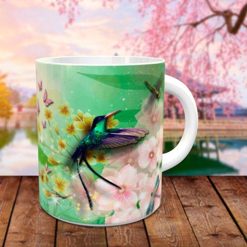 Design pour sublimation mug - colibri 004