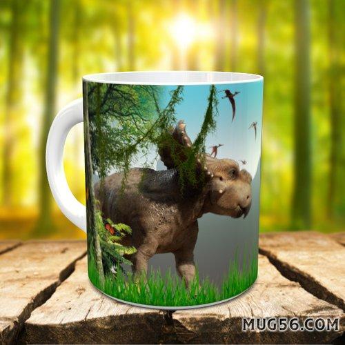 Design pour sublimation mug - dinosaure 001