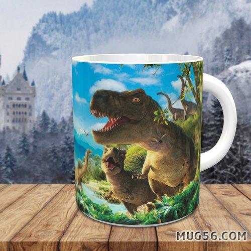 Design pour sublimation mug - dinosaure 002