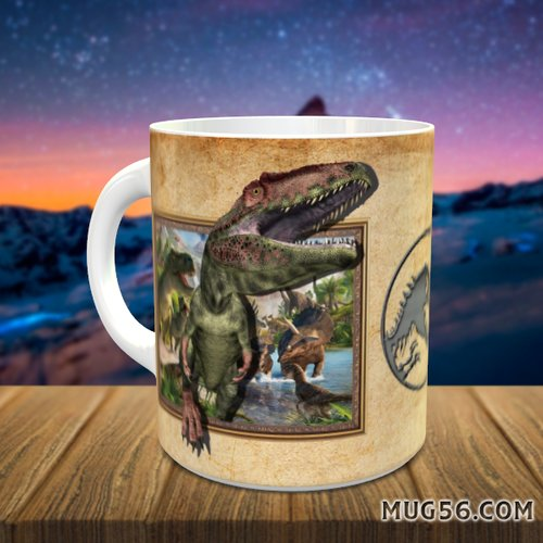 Design pour sublimation mug - dinosaure 003