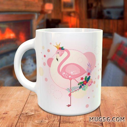 Design pour sublimation mug - flamant rose 002
