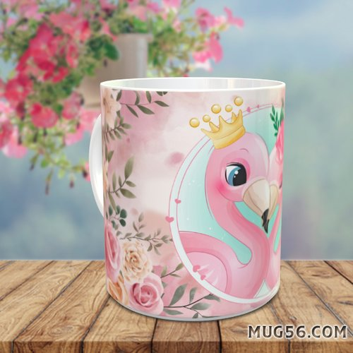 Design pour sublimation mug - flamant rose 004