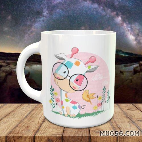 Design pour sublimation mug - girafe 003