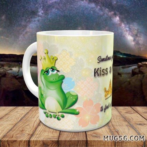 Design pour sublimation mug - la princesse et la grenouille 001