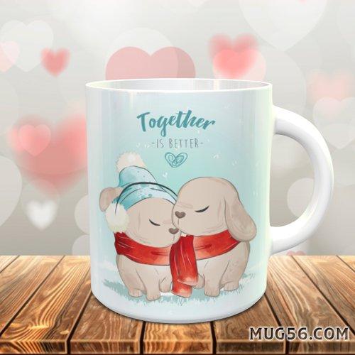 Design pour sublimation mug - lapin 002