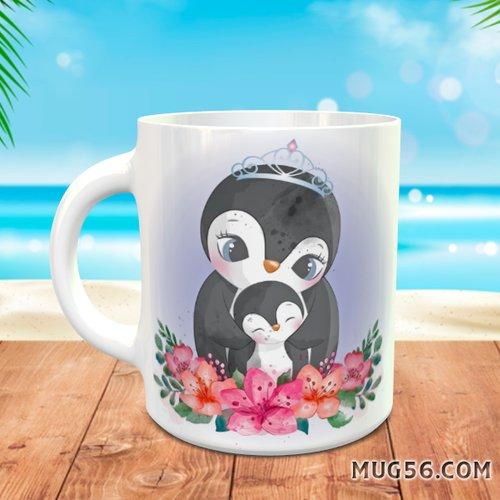 Design pour sublimation mug - manchot pingouin 001