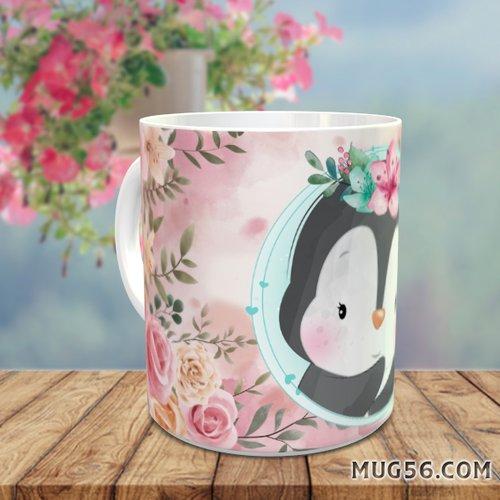 Design pour sublimation mug - manchot pingouin 003