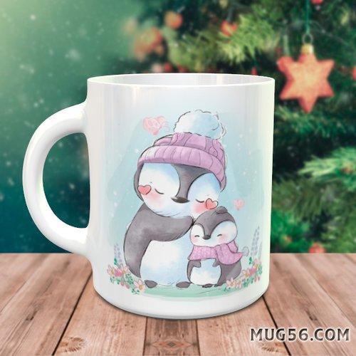 Design pour sublimation mug - manchot pingouin 004