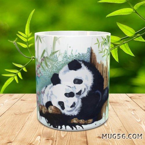 Design pour sublimation mug - panda 001