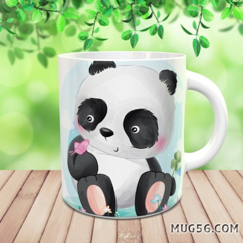 Design pour sublimation mug - panda 006