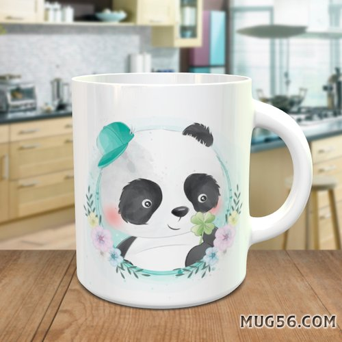 Design pour sublimation mug - panda 007