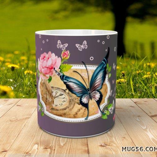 Design pour sublimation mug - papillons 001