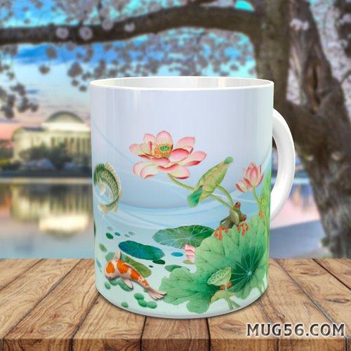 Design pour sublimation mug - poisson carpe koi 001