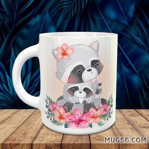 Design pour sublimation mug - raton laveur 003
