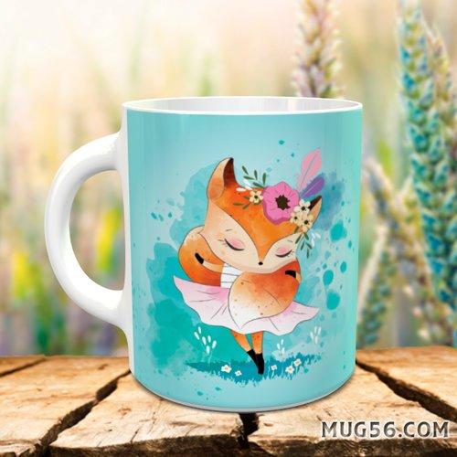Design pour sublimation mug - renard 001