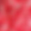 Réservée / robe trapèze ample sans manches encolure ronde en coton satiné blanc et motifs coquelicots rouge