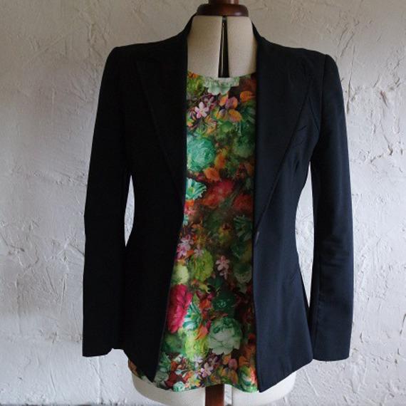 Top, Tunique, blouse ample forme trapèze à manches courtes et encolure ronde