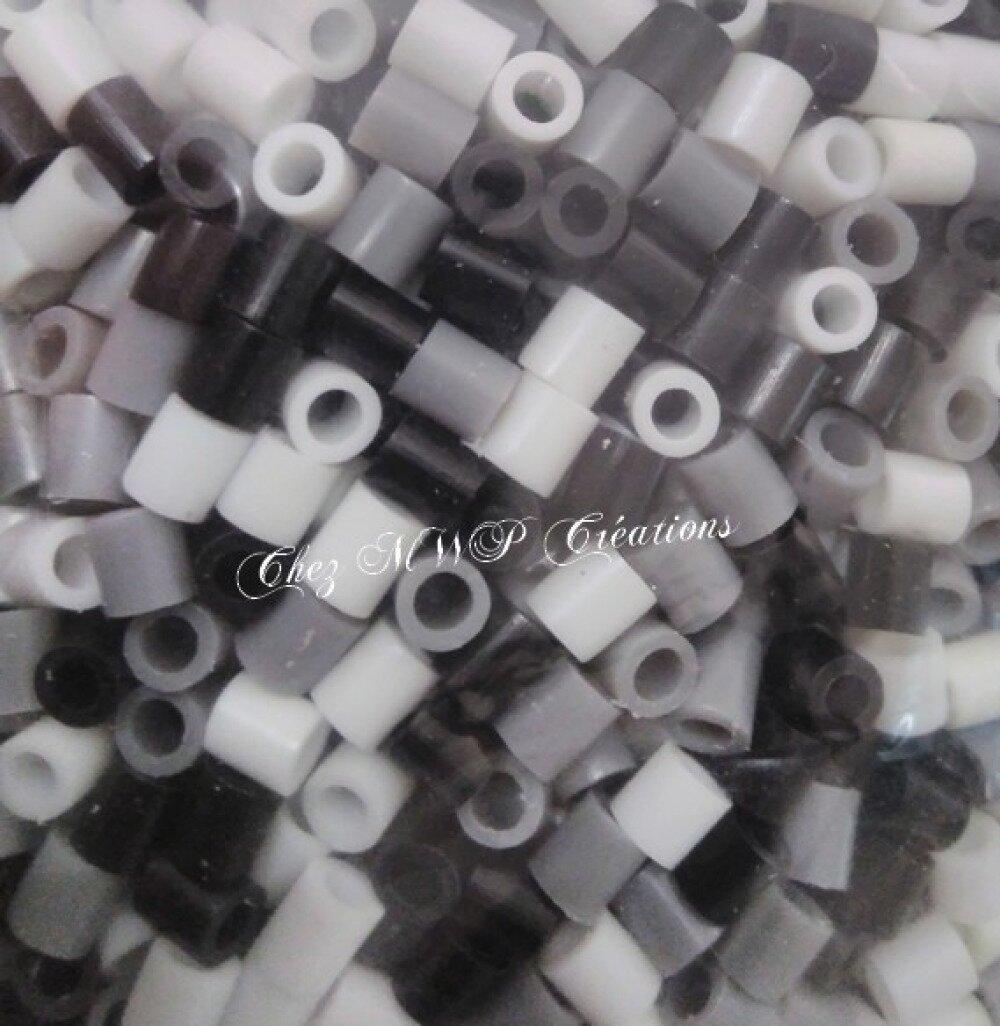Perles à repasser - mix blanc / noir