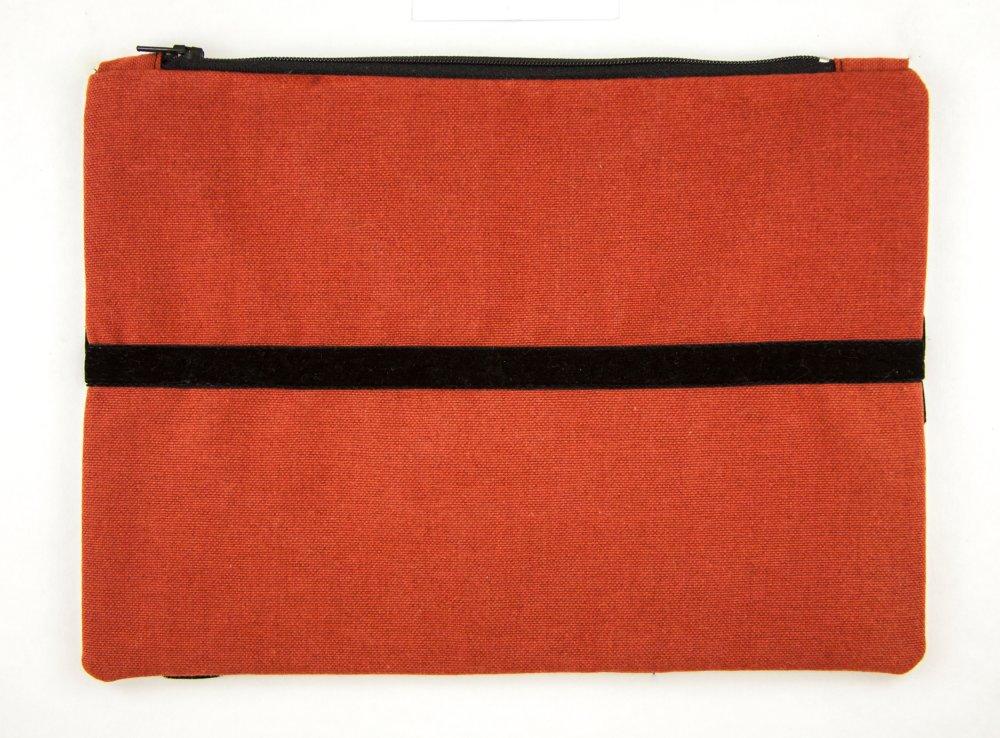 Pochette de créateur Boho Patchwork Tissu Soie Coton Multicolore Veret Marron Terre cuite