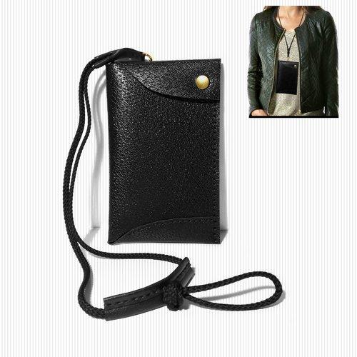 Pochette tour de cou en cuir mini sac bandoulière pour téléphone portable