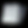 25 sachets pochettes plastique transparent cristaux de flocon de neige blancs 10cm x 10cm avec bande adhésive