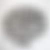 30 fermoirs mousquetons noirs 12mm x 7mm