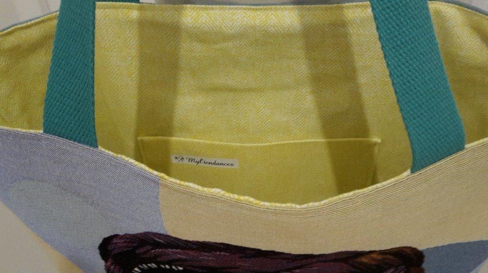 Sac de plage, sac cabas, sac à main, sac shopping portrait Frida Kahlo