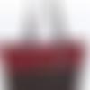Sac cabas pailleté rouge bordeaux et noir