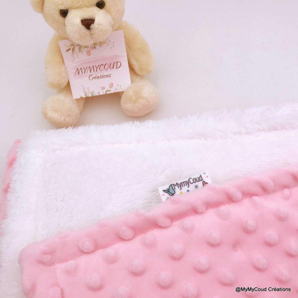 Couverture bébé personnalisée et brodée chouette ou hibou cadeau de naissance