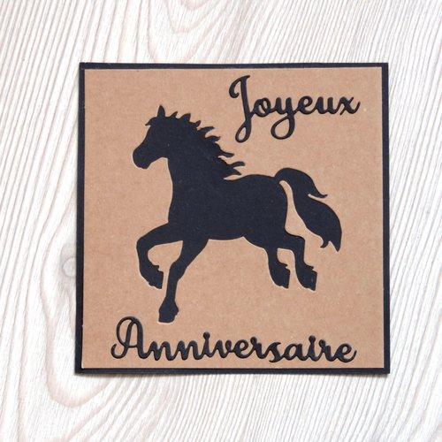 Carte Anniversaire Equitation Cheval Fait Main Un Grand Marche