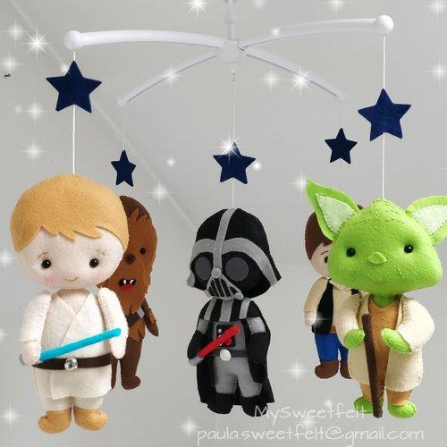 Mobile bebé star wars