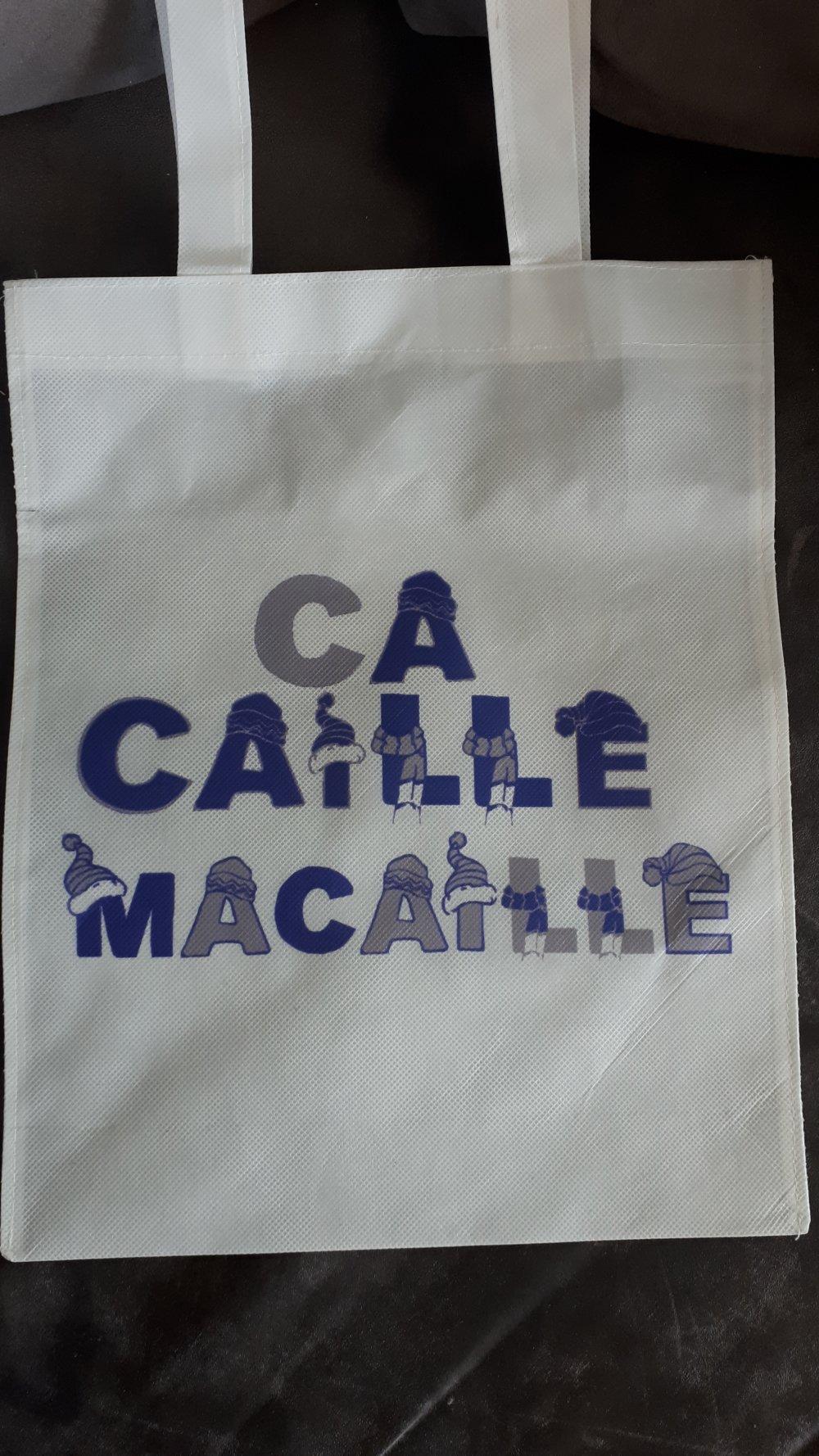 """Petit sac personnalisé """"Ça caille"""""""