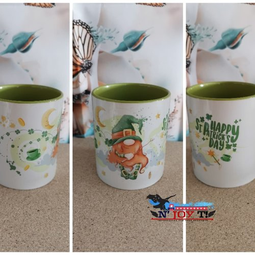 Mug bicolore vert clair st-patrick