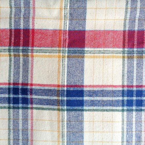 Coupon de tissus écossais flanelle bleu rouge blanc 1 mètre 65 et largeur 1 mètre 45